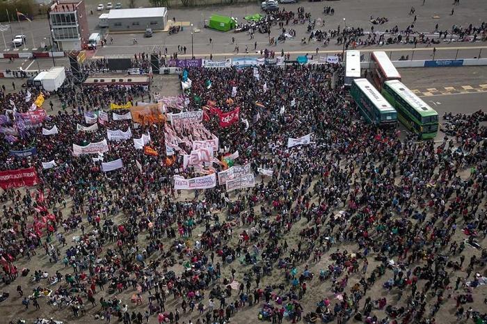 Casi 600 marplatenses llevaron su lucha al Encuentro de Mujeres