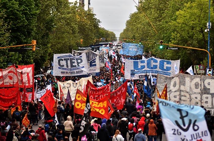 Mar del Plata también marchó contra el Presupuesto 2019