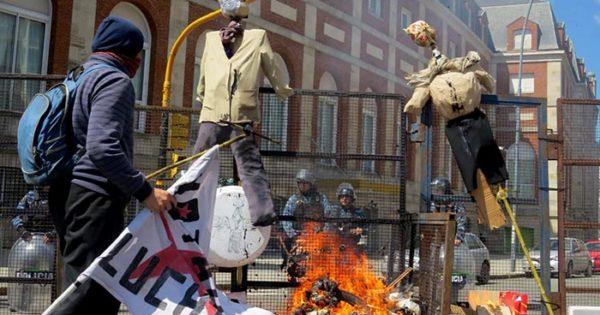Otra protesta ante una nueva reunión del G20 en Mar del Plata