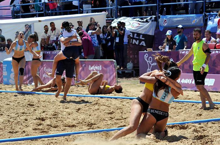 handball playa argentina campeon olimpico coa jimena riadigos juegos olimpicos juventud