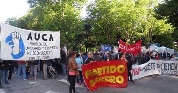 La izquierda concentró en Mar del Plata contra el Presupuesto 2019