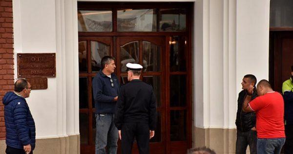 Protesta por conflicto laboral en los hoteles de la Armada