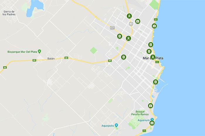 Fotomultas: el mapa con todos los radares en Mar del Plata