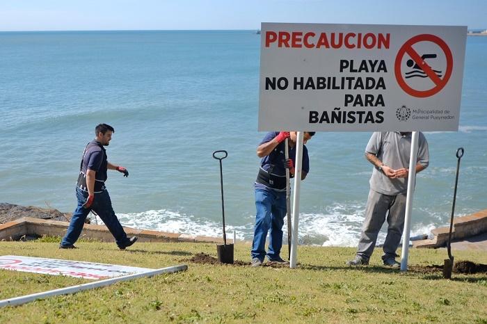 Carteles Playa Balnearios Derrumbe Gobierno Foto MGP
