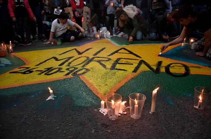 """Bicicleteada, dolor y una estrella por """"Nía"""" en Belgrano e Yrigoyen"""