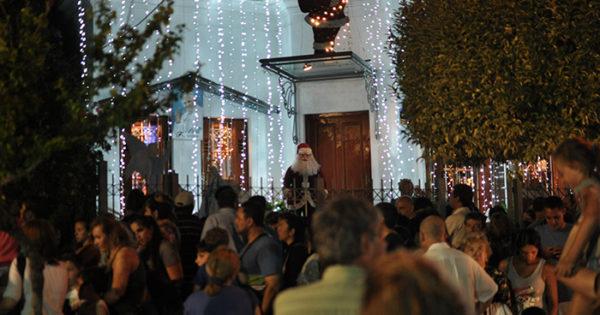 En la calle Olazábal, la Navidad está más cerca: inauguran el paseo