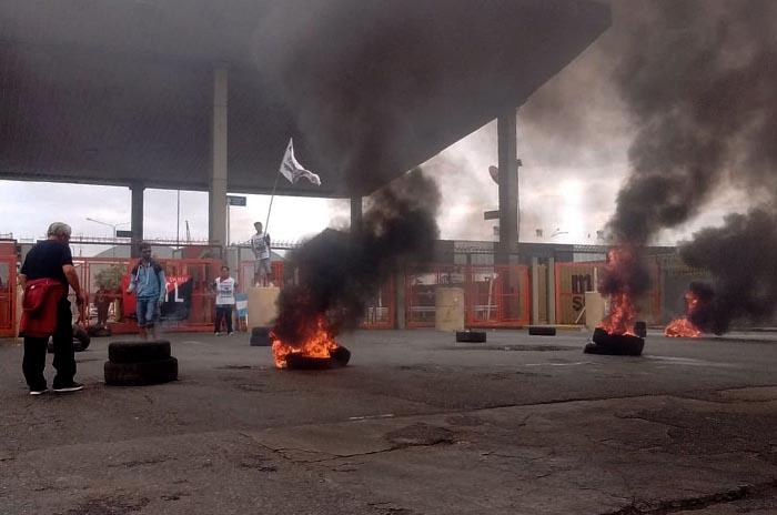 Protesta en el Puerto a seis meses del hundimiento del Rigel