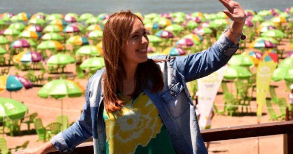 Vidal inauguró la playa equipada: breve acto entre reclamos