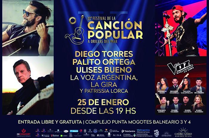 Flyer X Festival de la Canción Popular