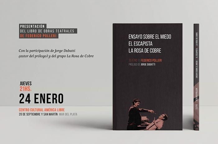Flyer presentacion libro la rosa de cobre