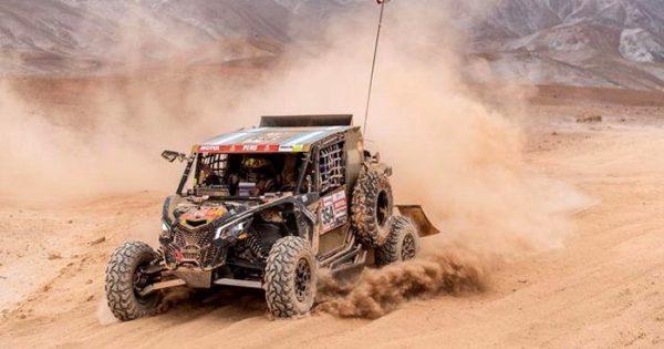 Omar Gándara, en la quinta etapa del Dakar 2019