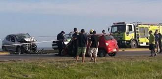 Cuatro heridos tras un choque frontal en Ruta 11