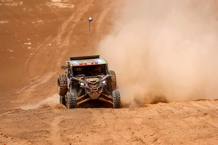 Omar Gándara entró en la recta final del Dakar