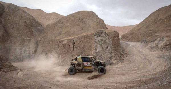Omar Gándara, en la segunda mitad del Dakar 2019