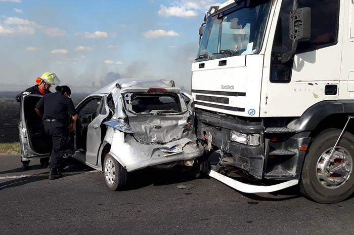 Ruta 226: incendio, choque múltiple y seis heridos