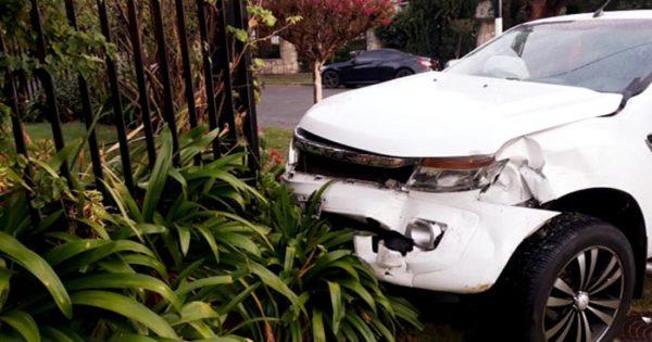 Violento choque sin heridos en Alsina y Quintana