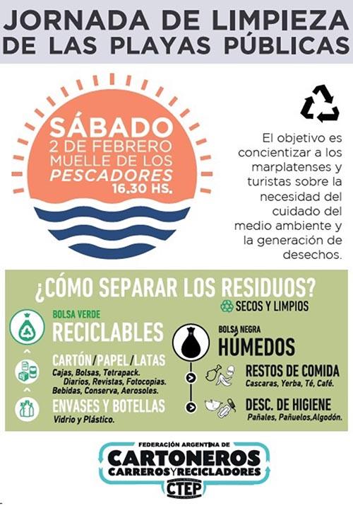 Flyer MTE limpieza de playas