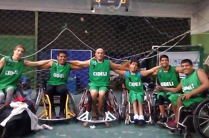 Básquet adaptado: Cideli debutó con un triunfo en la Liga Nacional