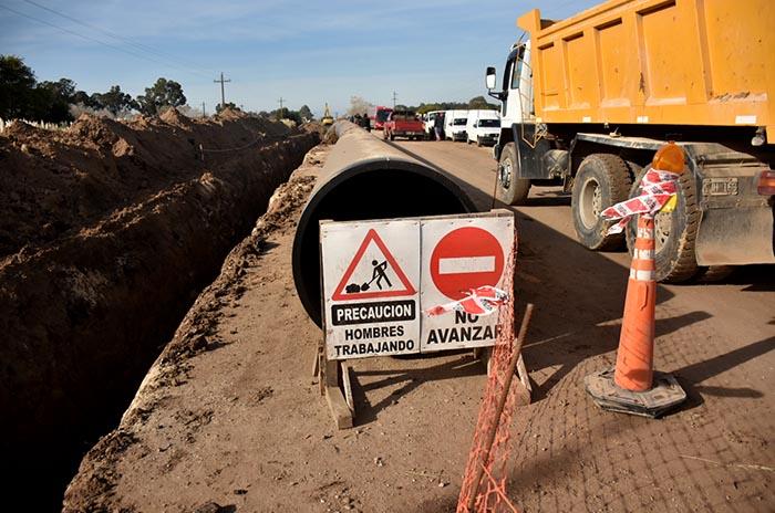 Acueducto Oeste: el fin de semana se concretarán las obras de empalme de cañerías