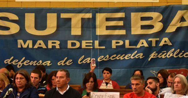 En Mar del Plata, docentes de Suteba votaron rechazar la oferta
