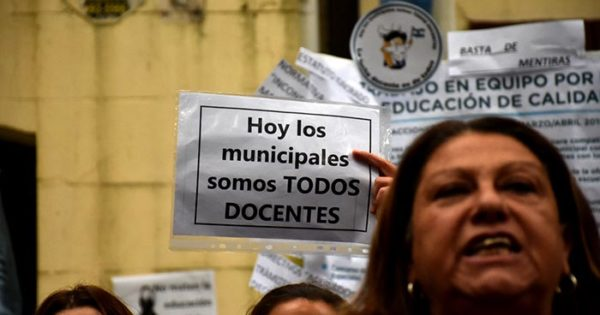 Bonificación docente: otra vez, estado de alerta de los municipales