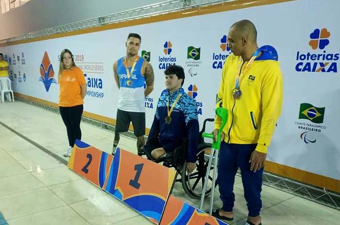 Natación adaptada: Matías De Andrade campeón en San Pablo