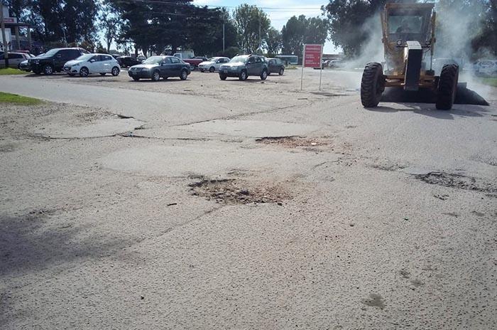 Arreglan las calles de ingreso al Hospital Interzonal