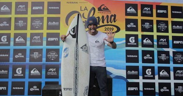 Surf: Martín Passeri, séxtuple campeón del torneo a los 43 años