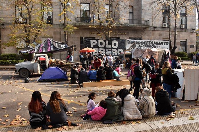 """Acampe: Arroyo le pide a la Justicia """"la liberación de la vía pública"""""""
