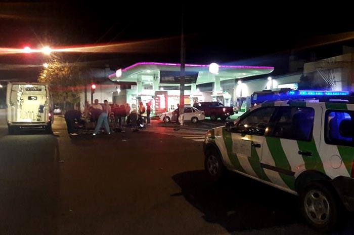 Manejaba alcoholizado y chocó a una moto: dos heridos