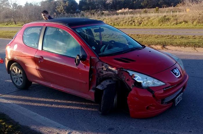 Manejaba alcoholizado y chocó con una moto: un herido
