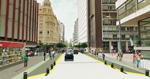 Así quedarán los cruces tras las obras en la Peatonal San Martín