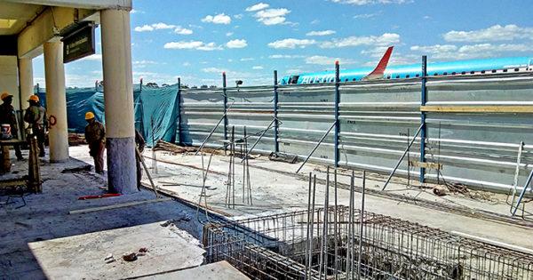 Avanzan las obras de ampliación en el Aeropuerto Astor Piazzolla