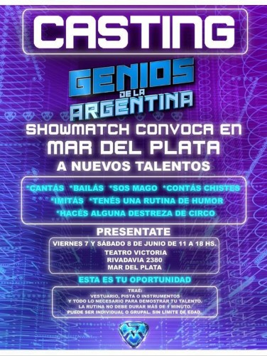 casting genios de la argentina