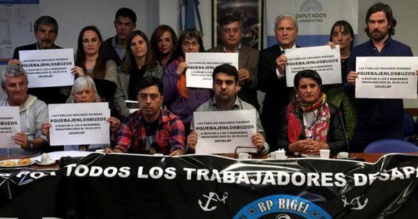 Rigel: compromiso de legisladores para que bajen los buzos