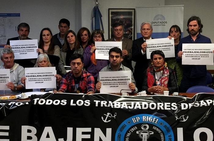 Rigel: diputados piden al gobierno que recupere los cuerpos