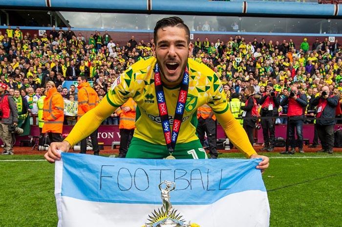Emiliano Buendía, campeón de la segunda división inglesa