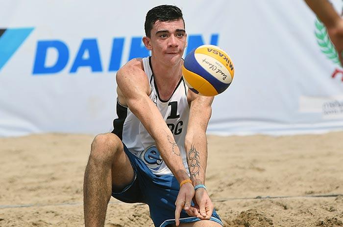 Vóley Playa: Mauro Zelayeta clasificó a la fase final del Mundial Sub 21