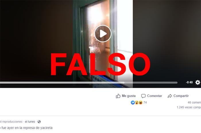No, el video viral del cortocircuito no está relacionado con el apagón