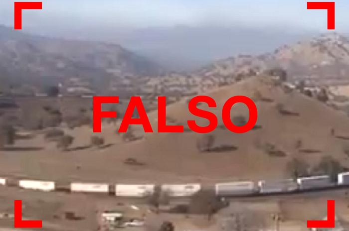 No, el video viral del tren que circula por una montaña no fue filmado en Argentina sino en Estados Unidos