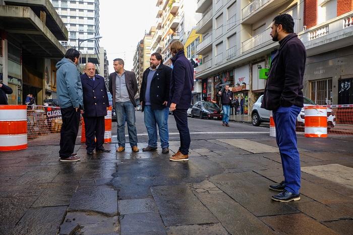 Fotos MGP - Comienzo de obra de remodelacion de Peatonal San Martin3