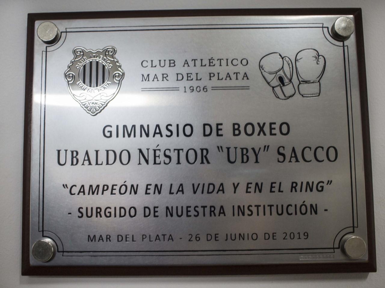 "Atlético Mar del Plata inauguró el gimnasio ""Uby Sacco"""