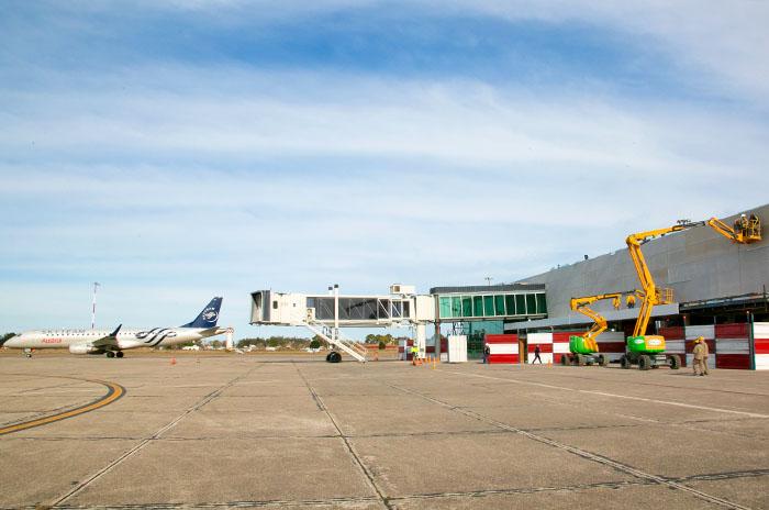 Aeropuerto Astor Piazzolla: a fin de mes finaliza la obra de ampliación