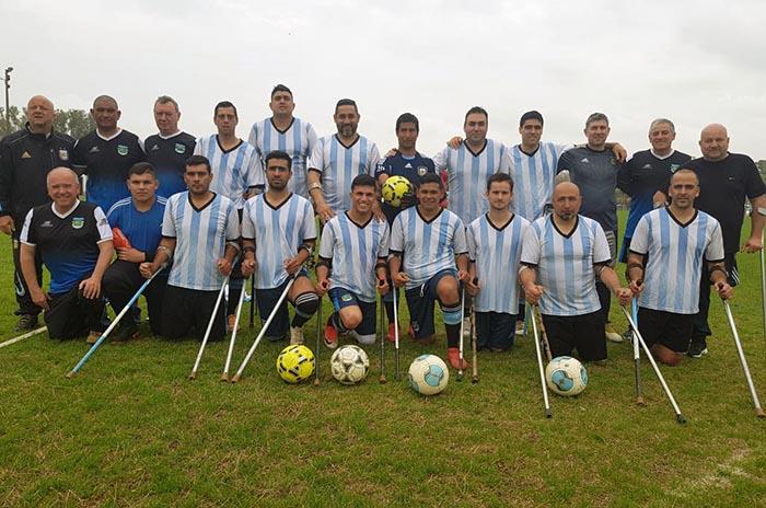 Fútbol para amputados: la Selección Argentina llega a Mar del Plata