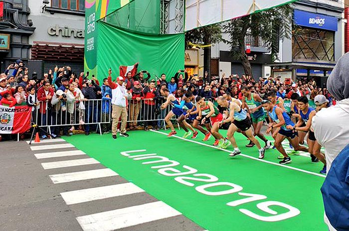 Mastromarino completó la maratón en Lima 2019