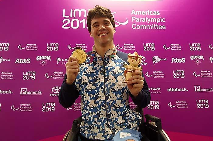 Parapanamericanos: Matías De Andrade logró la medalla de oro