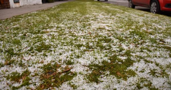 Durante la madrugada, cayó nieve en Mar del Plata