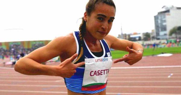 Atletismo: Belén Casetta le regaló la medalla a Santiago Maratea