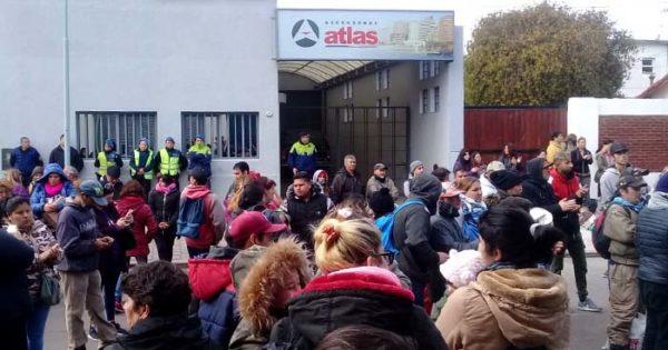 Una protesta frente al depósito de Desarrollo Social