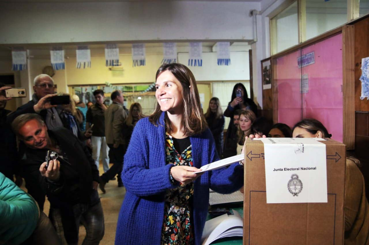 """Votó Raverta: """"A través del voto uno tiene mucho para decir"""""""
